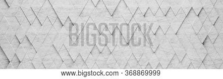 Wall Of Gray Rhombus Tiles Arranged In Random Height 3d Pattern Background Illustration