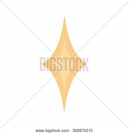 Star Sparkling Or Twinkling Cartoon. Vector Black Glittering Star Light Particles Isolated On White