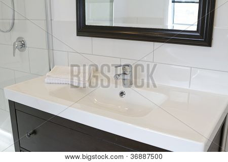 Black Bathroom Vanity And Mirror