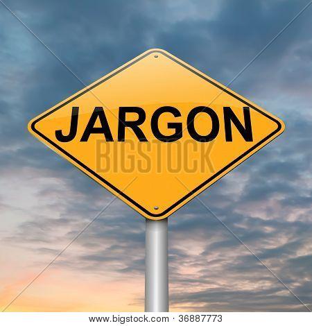 Jargon-Konzept.