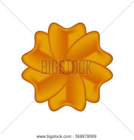 Single Flowers Copper Ornate Isolated On White, Luxury Flower Petal Copper, Copper Flowers Object Me