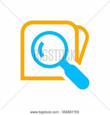 Search Icon Isolated On White, Magnifying Glass Search To File Symbol, Research Icon, Wallet Flat Si
