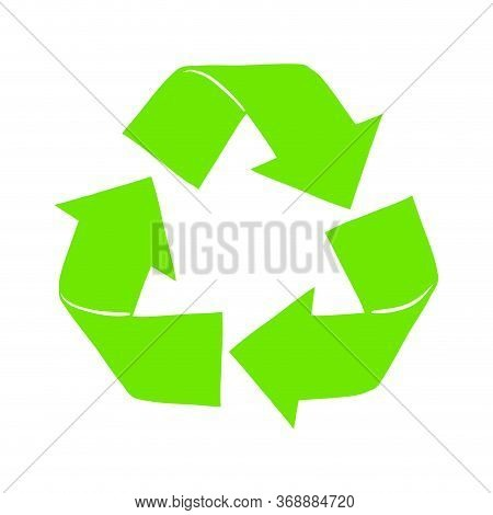 Recycle Symbol, Turned Green Arrows. Recycle Tuern Icon
