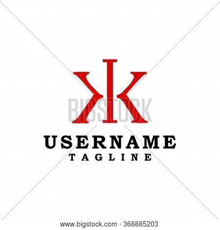 Letter Kk Logo Concept Design Symbol Vector Minimalist
