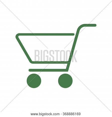 Cart Shopping Icon. Retail Market Button Vector