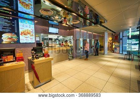 KUALA LUMPUR, MALAYSIA - CIRCA JANUARY, 2020: interior shot of McDonald's restaurant in Kuala Lumpur.