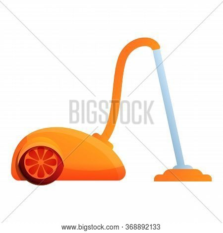 Hotel Vacuum Cleaner Icon. Cartoon Of Hotel Vacuum Cleaner Vector Icon For Web Design Isolated On Wh