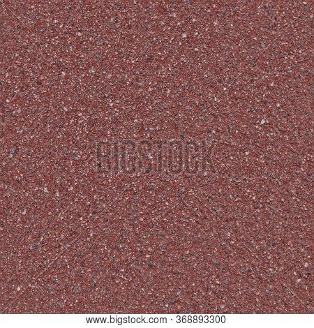 Seamless Pattern Of Red Asphalt Pavement. Layer Moisture Protective Surface Treatment Of The Roadway