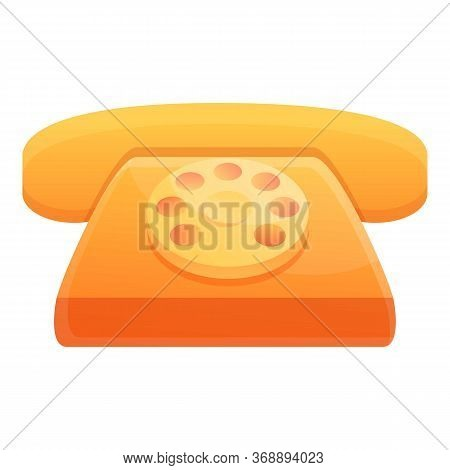 Hotel Telephone Icon. Cartoon Of Hotel Telephone Vector Icon For Web Design Isolated On White Backgr