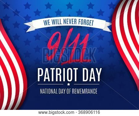 9 11 Patriot Day Background, American Flag Stripes And Stars Background. Patriot Day September 11, 2