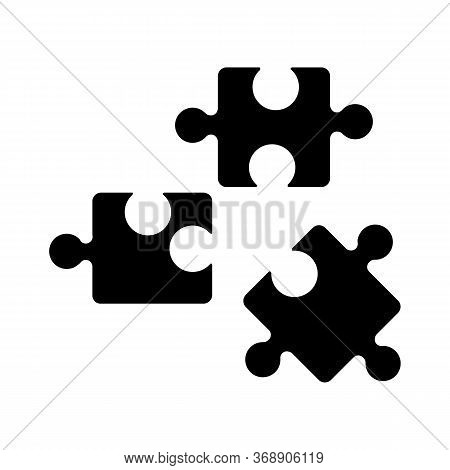 Logic Black Glyph Icon. Formal Science, Analytical Thinking, Intellectual Entertainment Silhouette S