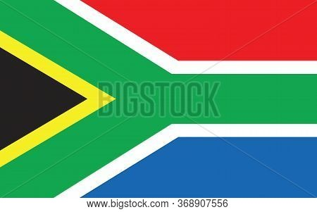 South Africa Flag Vector Graphic. Rectangle South African Flag Illustration. South Africa Country Fl