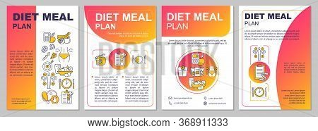 Diet Meal Planning Brochure Template. Mindful Eating, Dietary Food. Flyer, Booklet, Leaflet Print, C