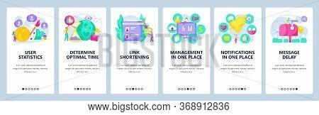 Digital Marketing Analysis, Social Media And Online Advertising. Mailbox, Link Shortening. Mobile Ap