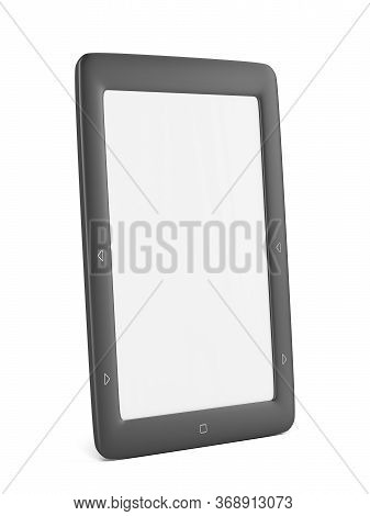 E-book Reader On White Background, 3d Illustration