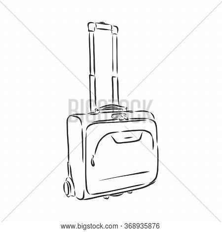 Suitcase Travel. Vector Illustration, Doodle Style. Suitcase, Vector Sketch Illustration