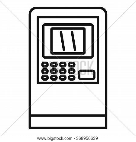 Customer Atm Icon. Outline Customer Atm Vector Icon For Web Design Isolated On White Background