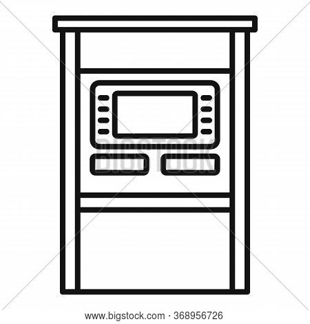 Atm Terminal Icon. Outline Atm Terminal Vector Icon For Web Design Isolated On White Background