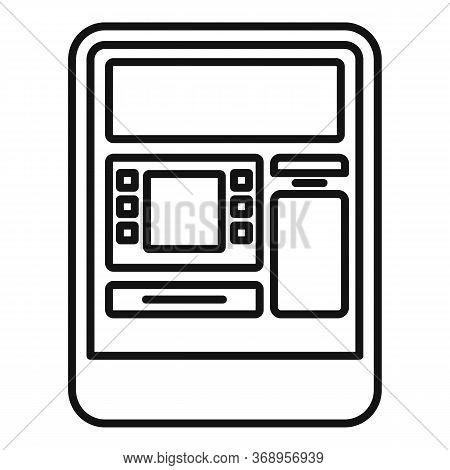 Insert Atm Card Icon. Outline Insert Atm Card Vector Icon For Web Design Isolated On White Backgroun
