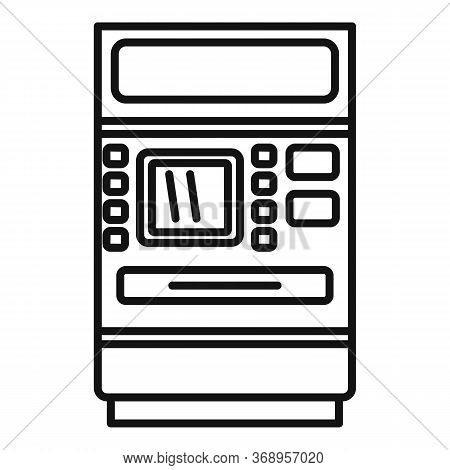 Cash Atm Receipt Icon. Outline Cash Atm Receipt Vector Icon For Web Design Isolated On White Backgro