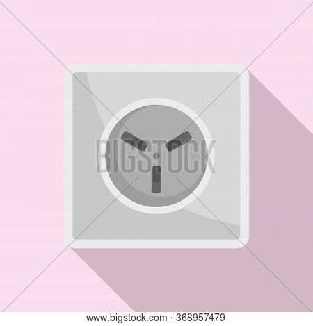 Type H Power Socket Icon. Flat Illustration Of Type H Power Socket Vector Icon For Web Design