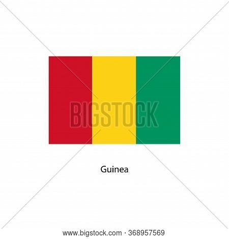 Guinea Flag. Official Colors And Proportion Correctly. National Flag Of Guinea. Guinea Flag Vector I