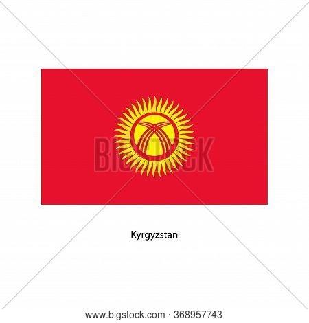 Vector Kyrgyzstan Flag, Kyrgyzstan Flag Illustration, Kyrgyzstan Flag Picture