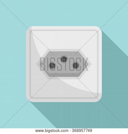 Type J Power Socket Icon. Flat Illustration Of Type J Power Socket Vector Icon For Web Design
