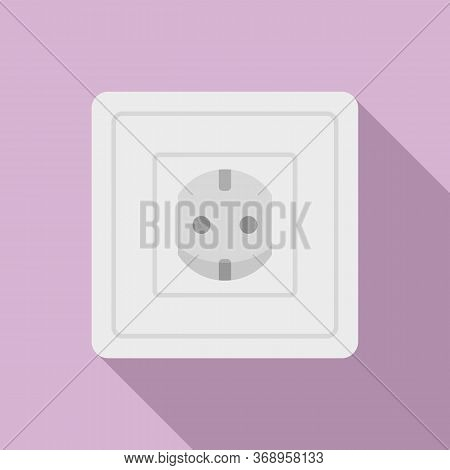 Type F Power Socket Icon. Flat Illustration Of Type F Power Socket Vector Icon For Web Design