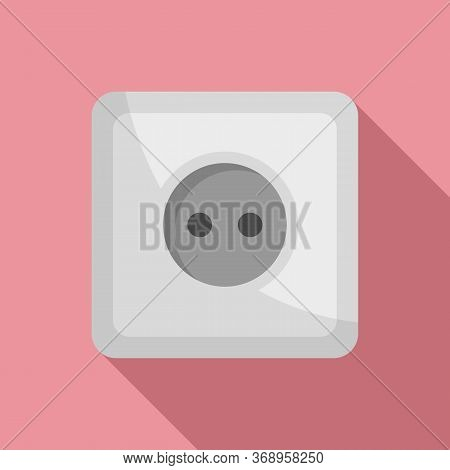 Classic Power Socket Icon. Flat Illustration Of Classic Power Socket Vector Icon For Web Design