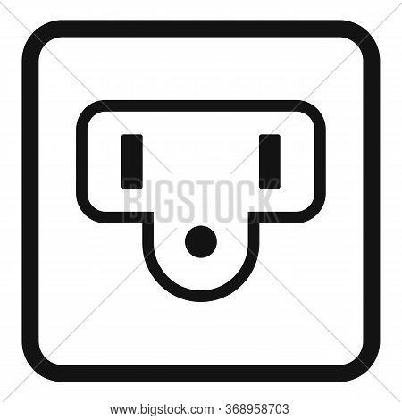 Type B Power Socket Icon. Simple Illustration Of Type B Power Socket Vector Icon For Web Design Isol