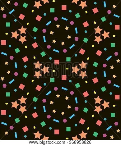 Abstract Kaleidoscope Pattern Geometry For Paper Design