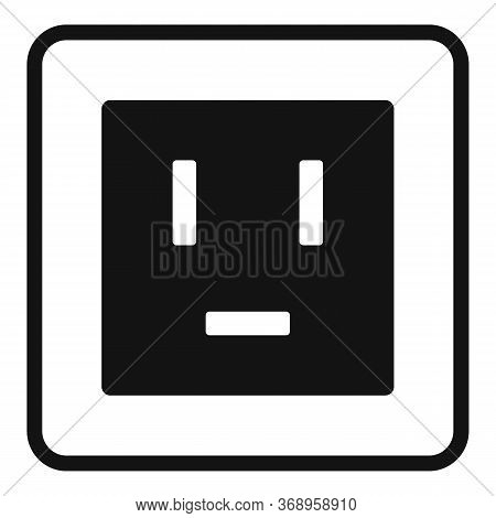 Electric Power Socket Icon. Simple Illustration Of Electric Power Socket Vector Icon For Web Design