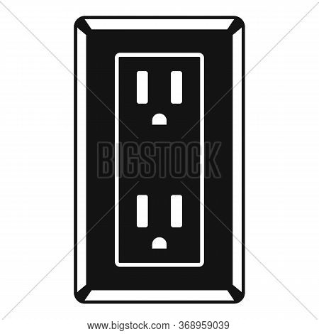 Double Type B Power Socket Icon. Simple Illustration Of Double Type B Power Socket Vector Icon For W