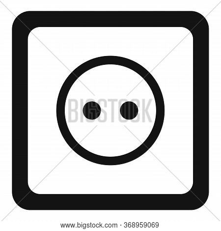 Classic Power Socket Icon. Simple Illustration Of Classic Power Socket Vector Icon For Web Design Is