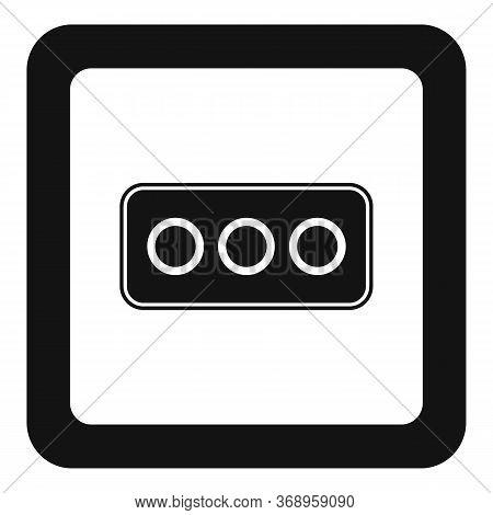 Type L Power Socket Icon. Simple Illustration Of Type L Power Socket Vector Icon For Web Design Isol