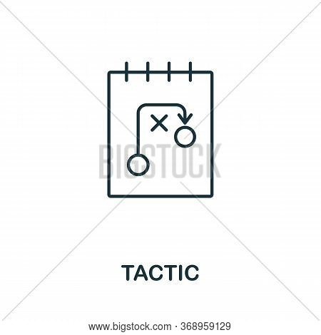 Tactic Icon From Planing Collection. Simple Line Tactic Icon For Templates, Web Design And Infograph