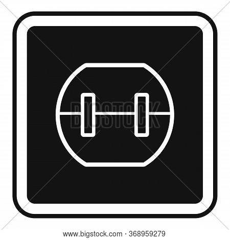 Element Power Socket Icon. Simple Illustration Of Element Power Socket Vector Icon For Web Design Is