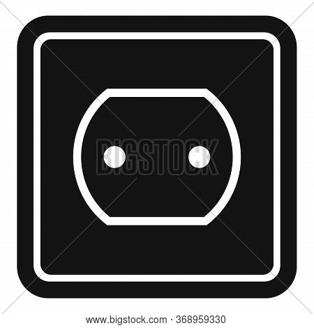Tech Power Socket Icon. Simple Illustration Of Tech Power Socket Vector Icon For Web Design Isolated