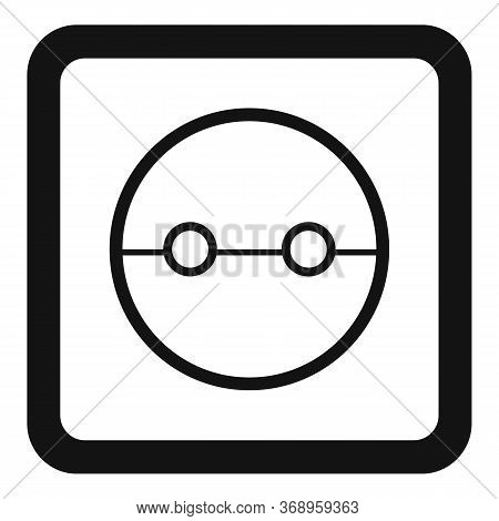 Cable Power Socket Icon. Simple Illustration Of Cable Power Socket Vector Icon For Web Design Isolat