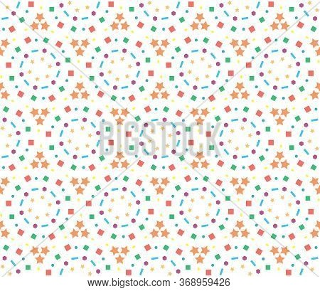 Abstract Kaleidoscope Pattern Geometry For Paper Design On White Background