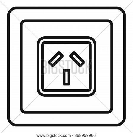 Type I Power Socket Icon. Outline Type I Power Socket Vector Icon For Web Design Isolated On White B