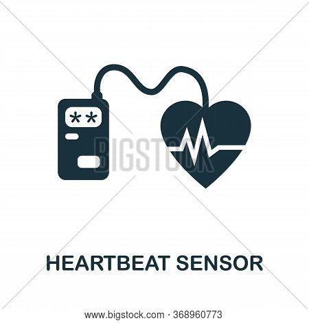 Heartbeat Sensor Icon. Simple Element From Sensors Icons Collection. Creative Heartbeat Sensor Icon