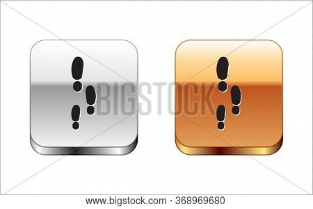 Black Footsteps Icon Isolated On White Background. Detective Is Investigating. To Follow In The Foot