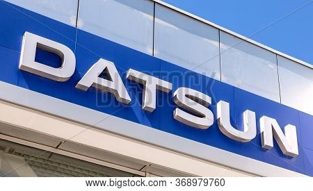 Samara, Russia - May 29, 2020: Datsun Dealership Sign On The Office Of Official Dealer. Datsun Is An