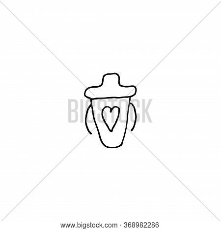 Illustration For Lifestyle Design. Isolated Vector. Childhood Lifestyle Concept. Simple Flat Vector.