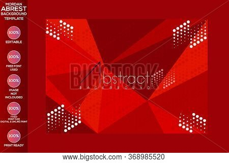 Abstract Background With Glittering Blurry Red Lights