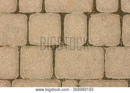 Abstract Background - Gray Paving Slabs. Texture Paving Slabs. High Resolution Photo.