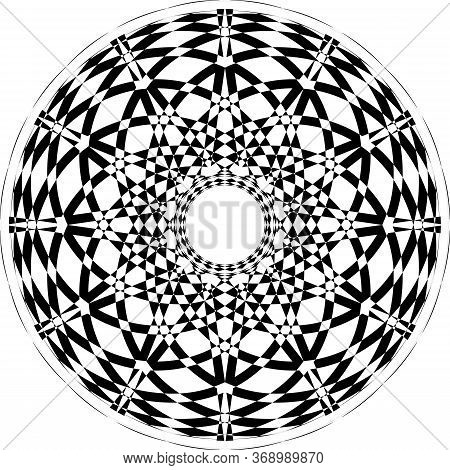 Abstract Arabesque Fountain Fan Not Spinning Perspective Negative Space Design Black On Transparent