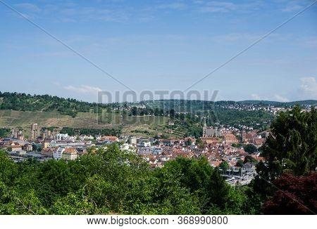 City Esslingen Am Neckar Germany Panorama Cityview